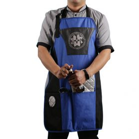 Blue bib apron JHBA004